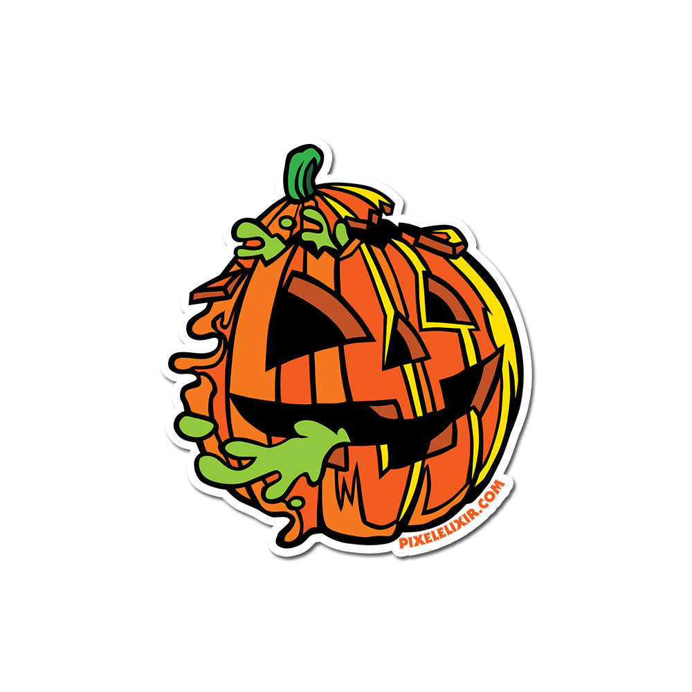 "Radballs 4"" Vinyl Sticker - Pumpkin"