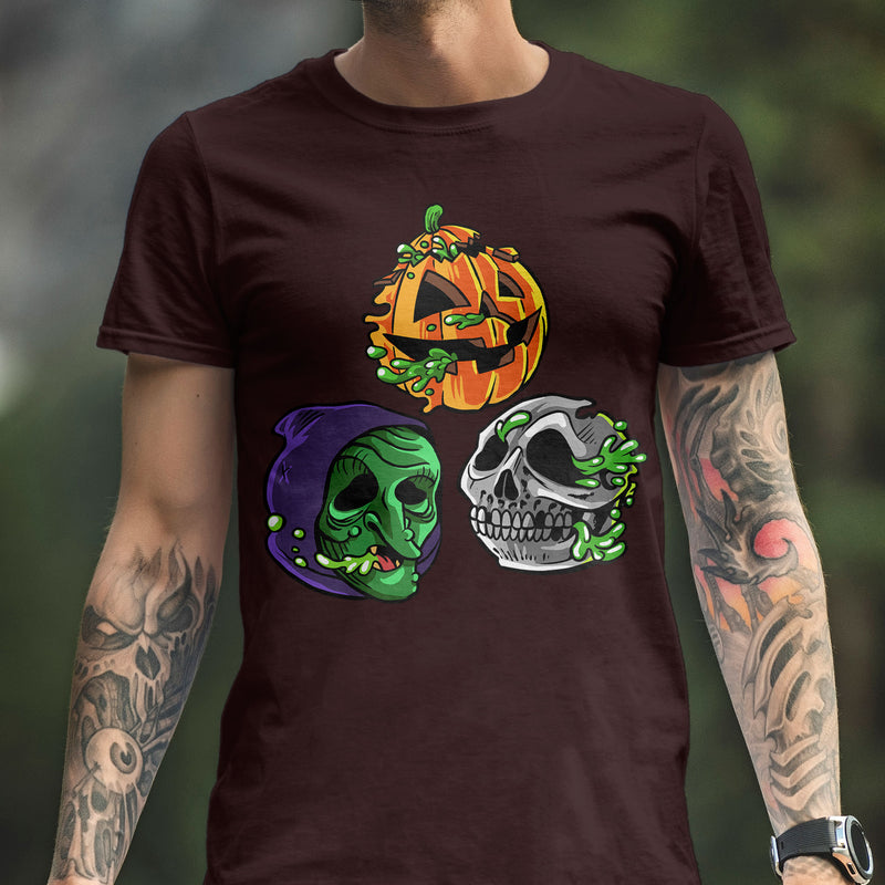 "Radballs ""Happy Halloween"" Oxblood T-Shirt - Dystopian Designs"