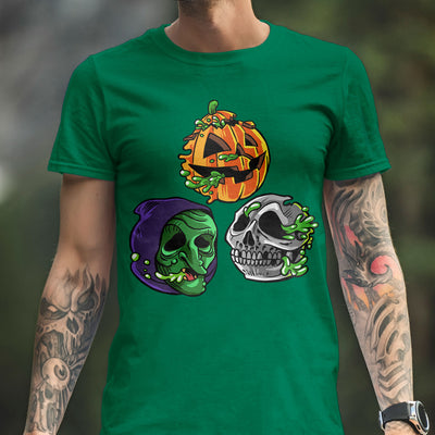 "Radballs ""Happy Halloween"" Shamrock Green T-Shirt - Dystopian Designs"