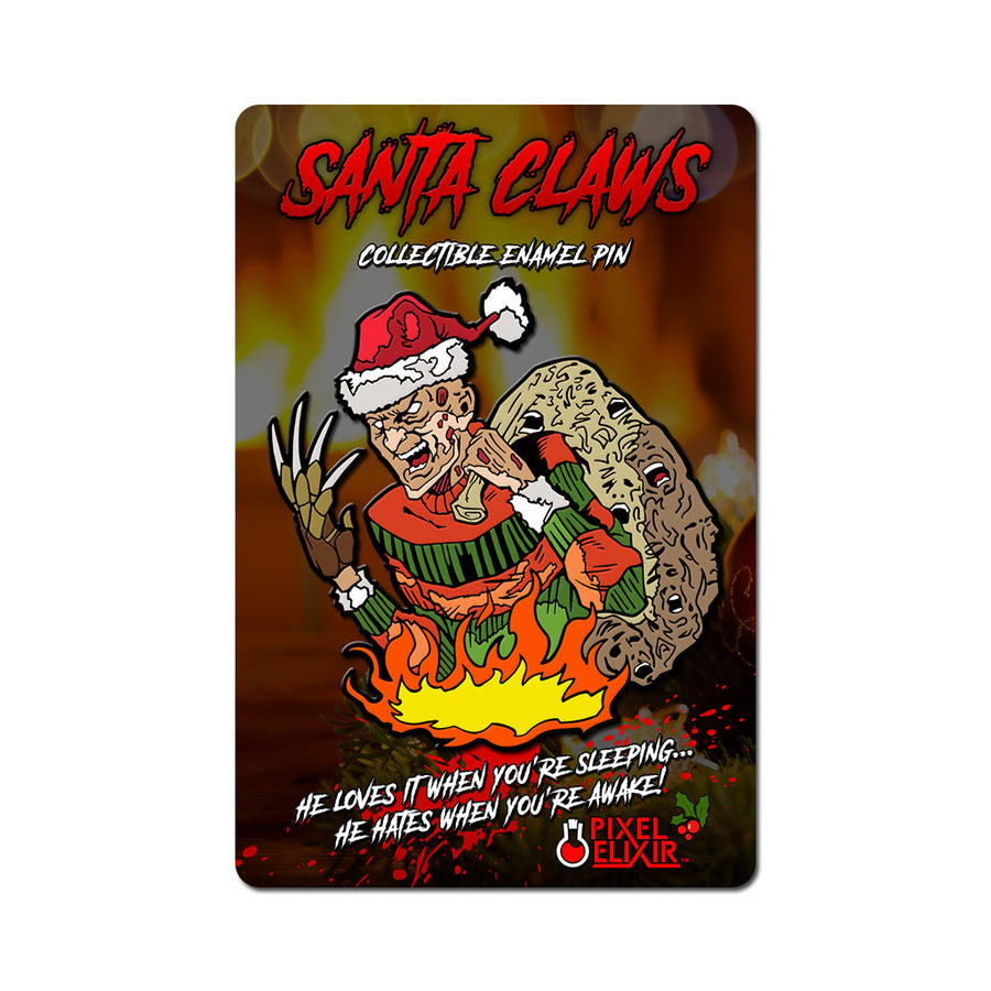 Santa Claws Enamel Pin