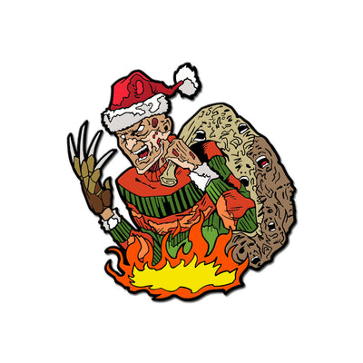 Santa Claws Enamel Pin - Dystopian Designs