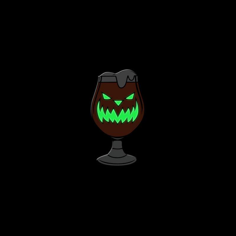 Scary Pumpkin Ale Enamel Pin - Dystopian Designs
