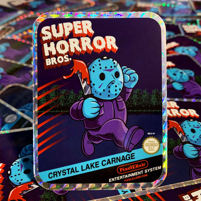 Super Horror Bros. Hologram Sticker - Dystopian Designs