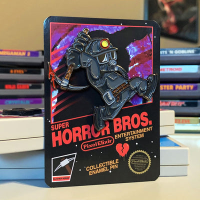 Super Horror Bros. Miner Enamel Pin