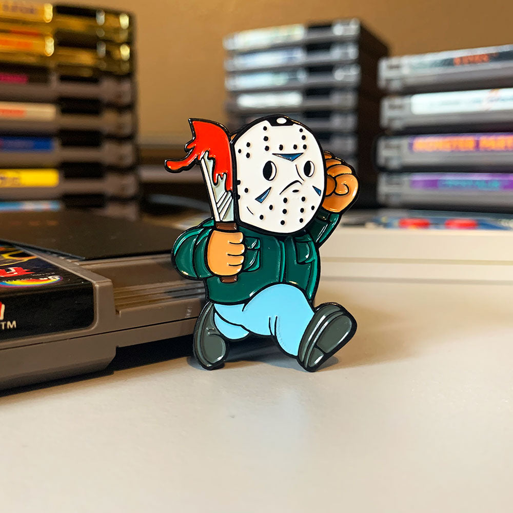 Super Horror Bros. Enamel Pin (Roy Burns Variant)