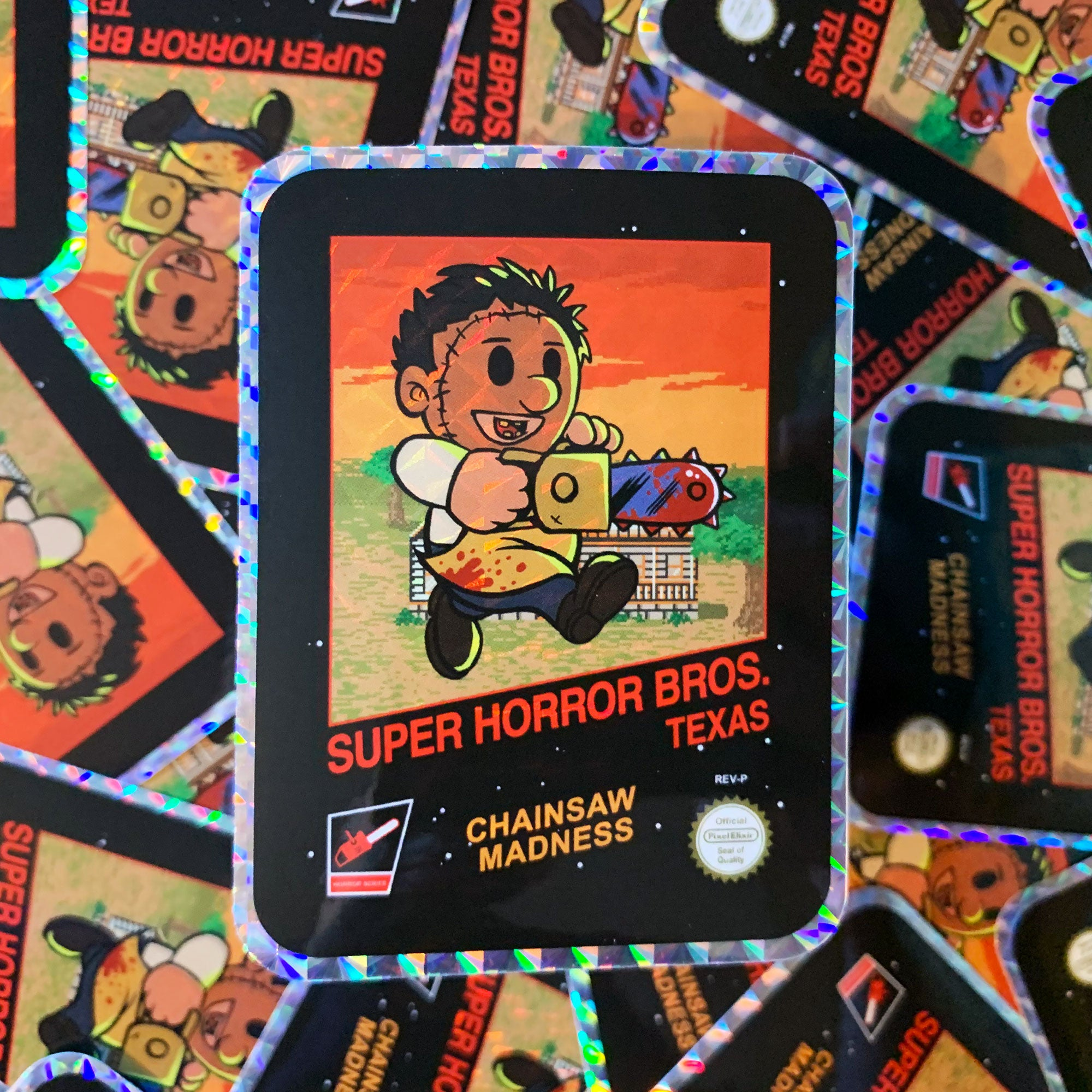 Super Horror Bros. Texas Hologram Sticker