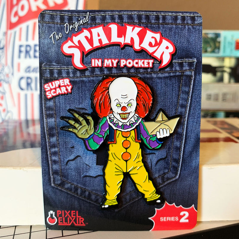 Stalker In My Pocket Enamel Pin - IT 1990