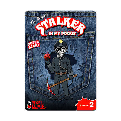 Stalker In My Pocket Enamel Pin - Miner - Dystopian Designs