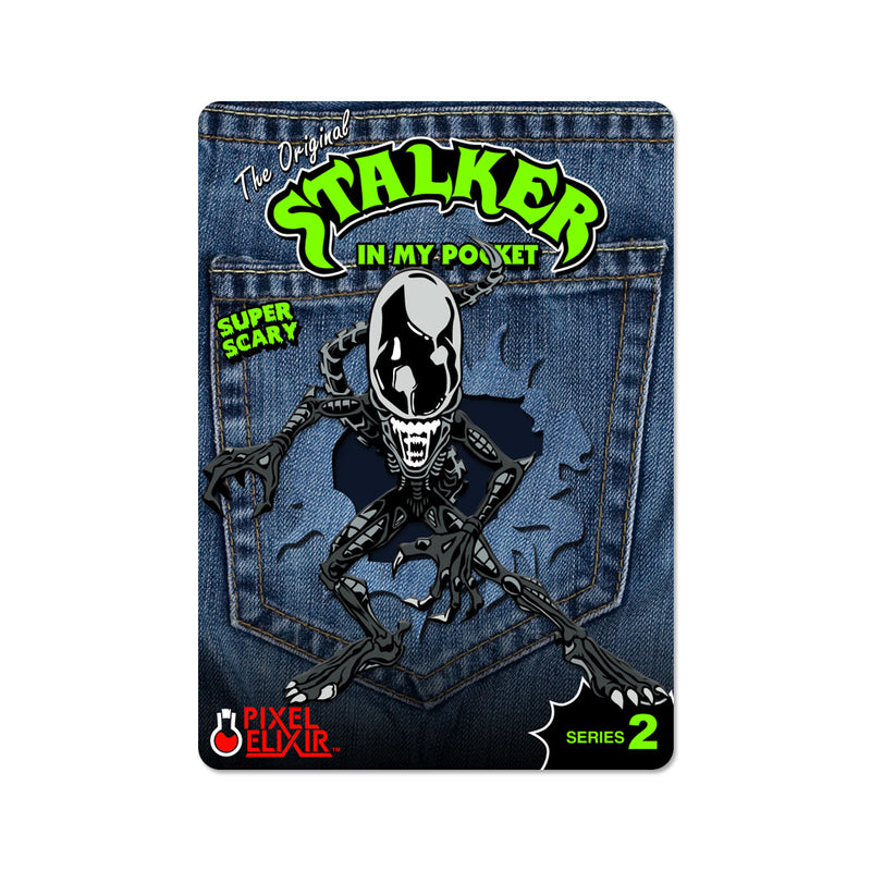 Stalker In My Pocket Enamel Pin - Xeno - Dystopian Designs