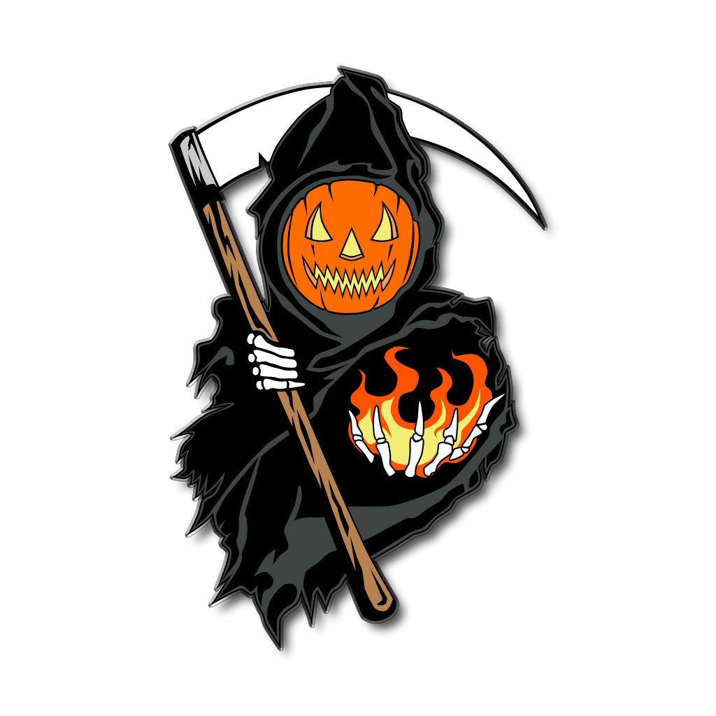 Spirits of Halloween Reaper Enamel Pin + Sticker - Dystopian Designs