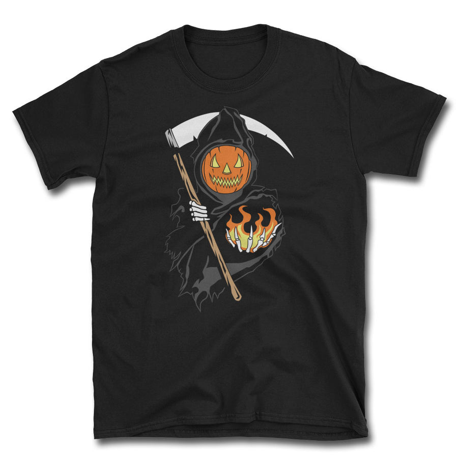 Spirits of Halloween Reaper T-Shirt - Dystopian Designs