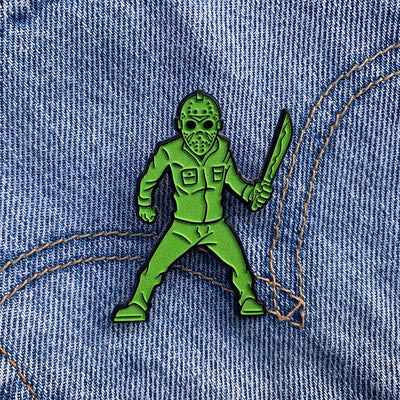 Stalker In My Pocket Enamel Pin - Camp Carver - Dystopian Designs