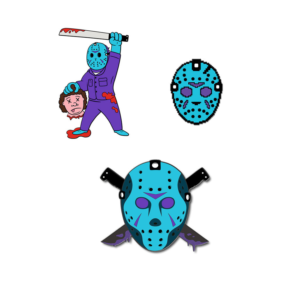 Summer Slasher Pack Enamel Pin Set - Dystopian Designs