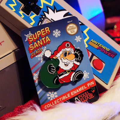 Super Santa Claus Enamel Pin