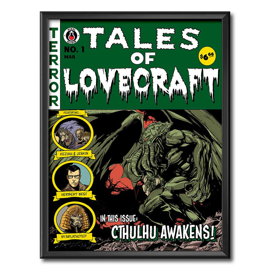 Tales of Lovecraft 18x24 Art Print - Dystopian Designs