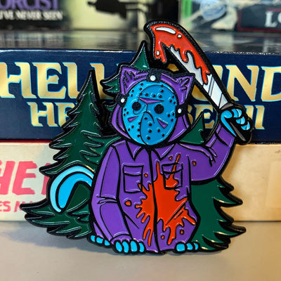 Camp Killer Kitty Enamel Pin - Dystopian Designs