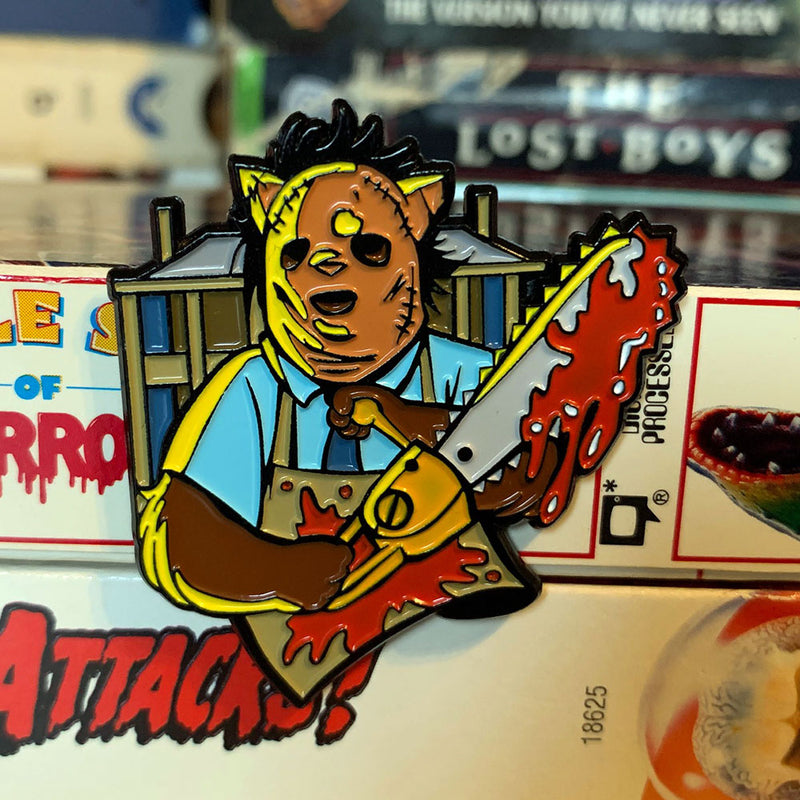 Chainsaw Kitty Enamel Pin - Dystopian Designs