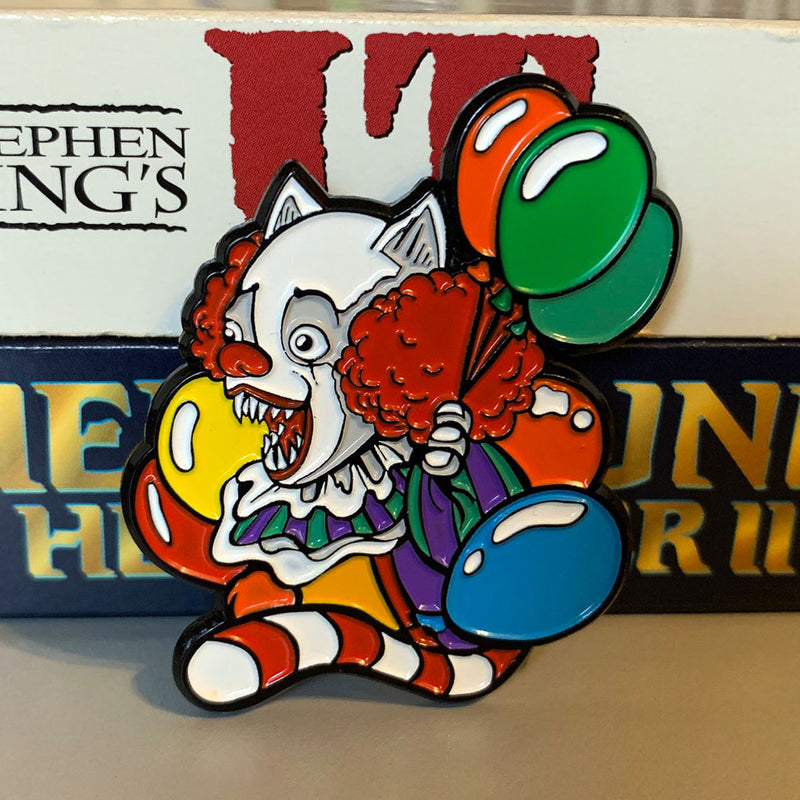 Clown Kitty 1990 Enamel Pin - Dystopian Designs