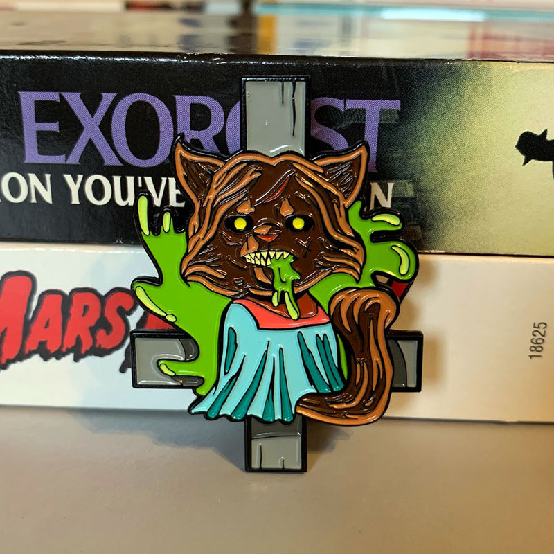 Possessed Kitty Enamel Pin - Dystopian Designs