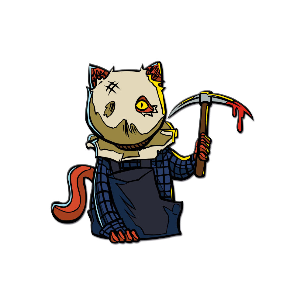 Sackhead Kitty Enamel Pin - Dystopian Designs