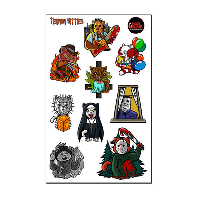 Terror Kitties Sticker Sheet - Dystopian Designs