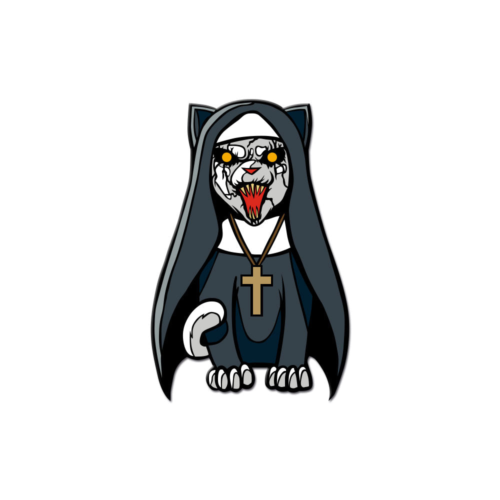 Unholy Kitty Enamel Pin - Dystopian Designs