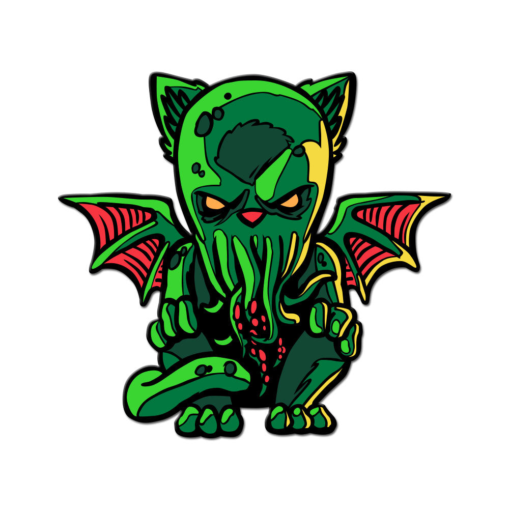 Cat-thulhu Enamel Pin