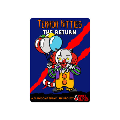 Clown Kitty Enamel Pin