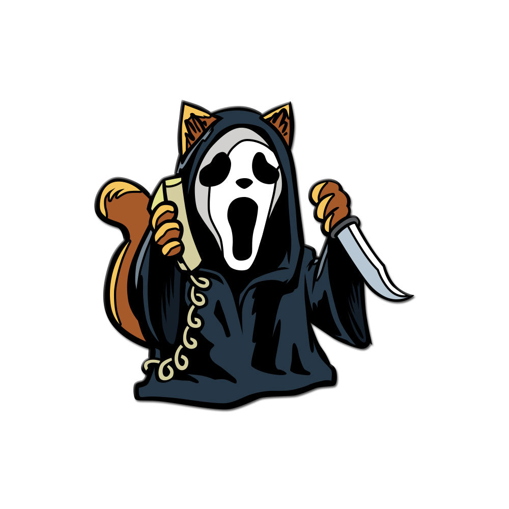 Scary Movie Kitty Enamel Pin