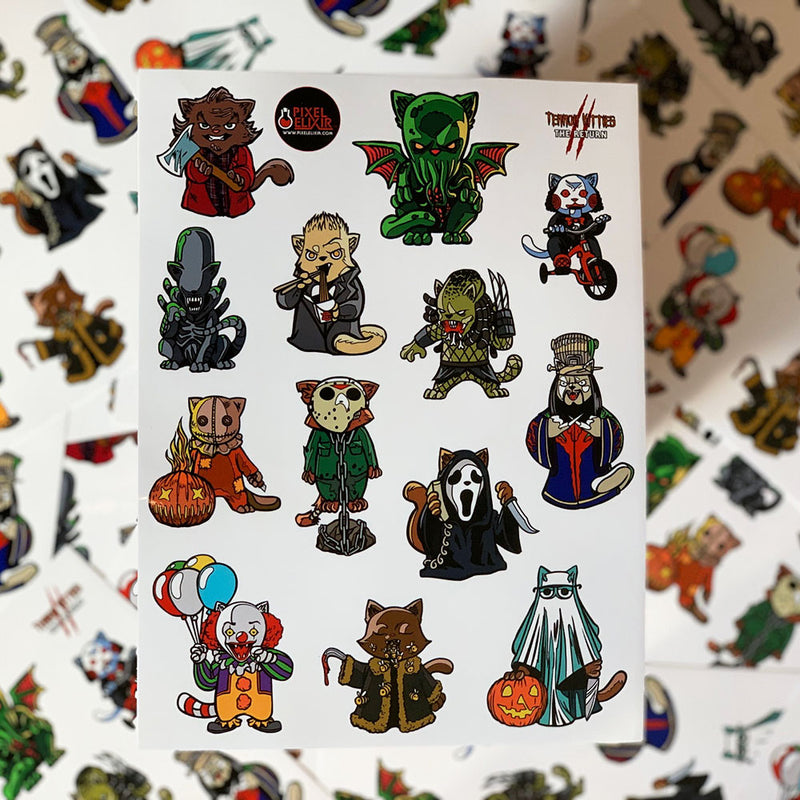 Terror Kitties 2 Sticker Sheet