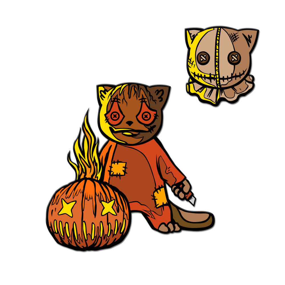 Tricky Kitty Enamel Pin