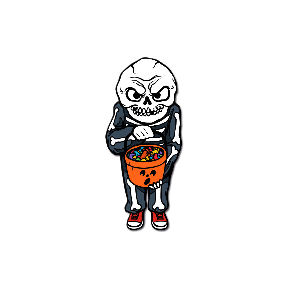 Trick or Treat Enamel Pin w/ Magnetic Mask