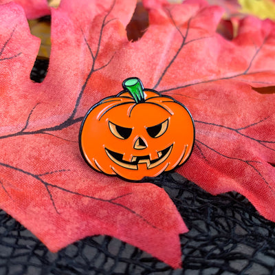 Vintage Halloween Enamel Pins - Set of 3