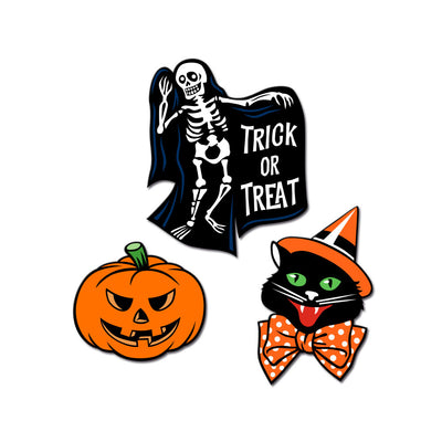 Vintage Halloween Enamel Pins - Set of 3 - Dystopian Designs