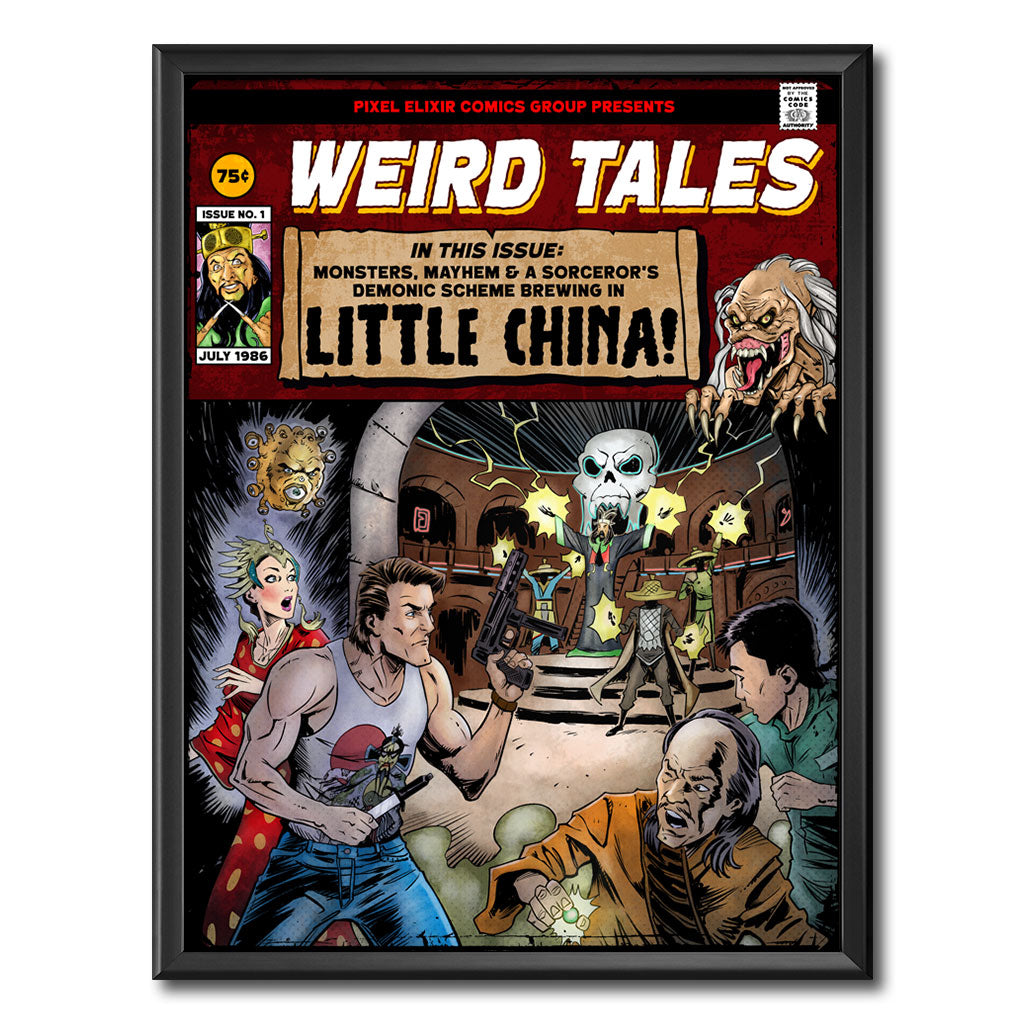 Weird Tales From Little China Art Print - Dystopian Designs