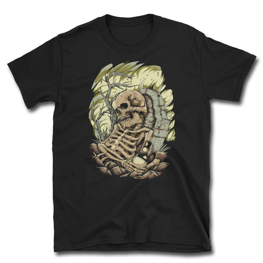 Whiskey Funeral Graveyard T-Shirt