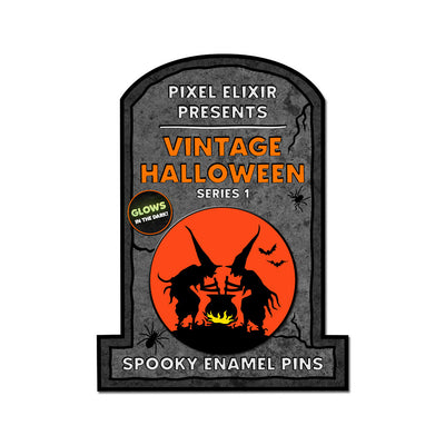 Witches' Brew Vintage Halloween Enamel Pin - Dystopian Designs