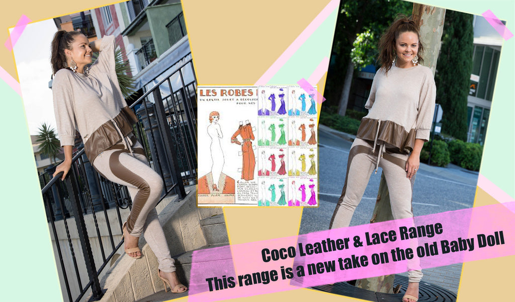 Old Baby Doll style was an inspiration to our Coco Leather & Lace Range