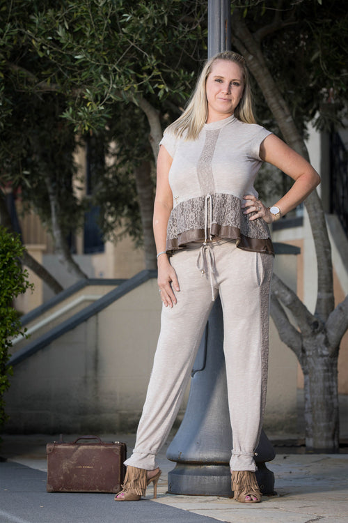 Coco Lace Pant with side pockets