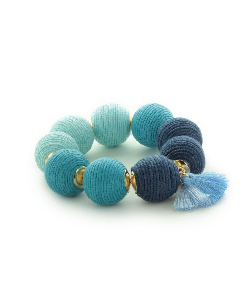 Riviera Ombré Thread Ball Bracelet