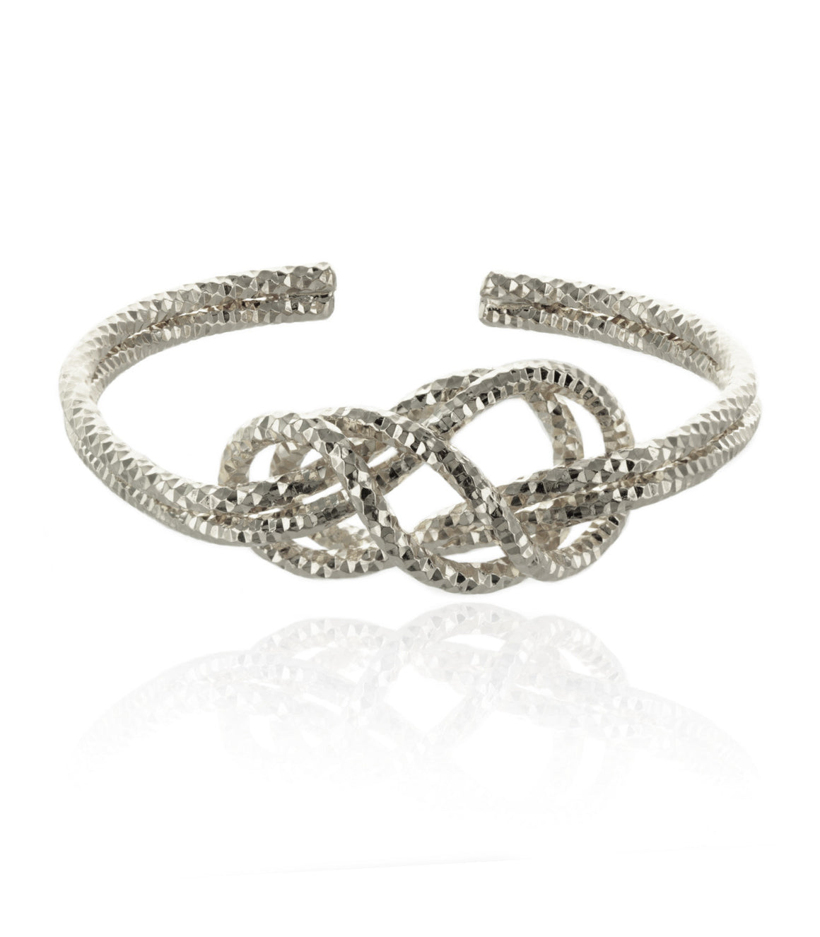 Polished celctic knot Cuff Bracelet
