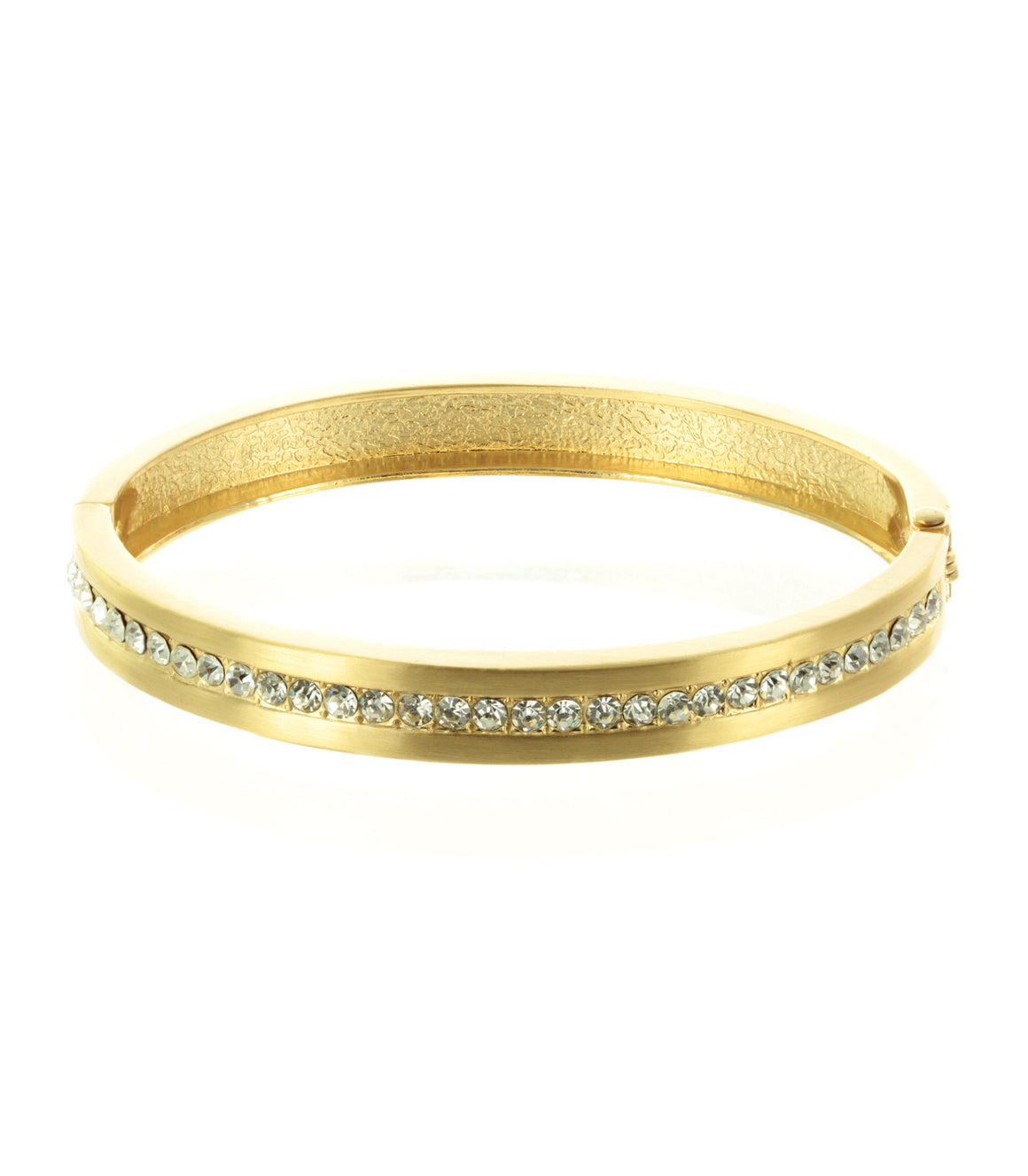Preppy rhinestone gold bangle