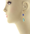 Stone teardrop Dangle Earringss