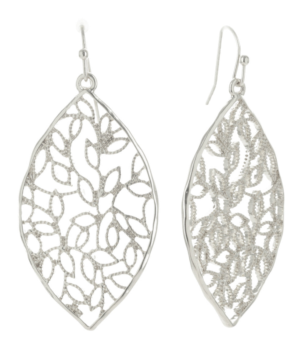 Climbing Vines Filigree Leaf Earrings