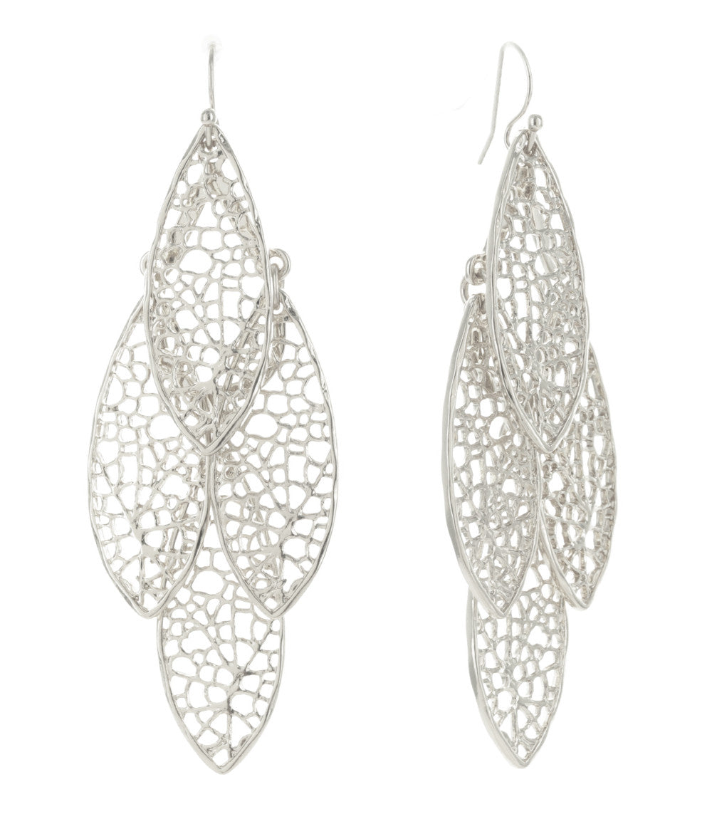 Dragonfly Wing Filigree Chandelier Earrings