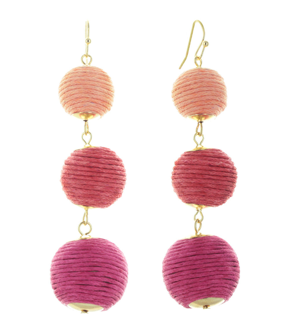 Riviera Ombré Thread Ball Trio Earrings