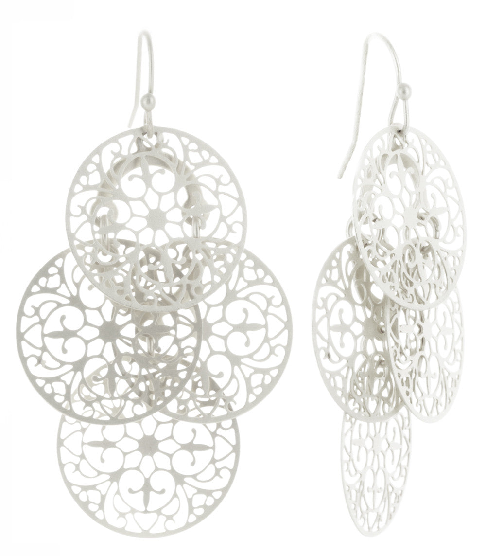 Danish Lace Filigree Chandelier Earrings