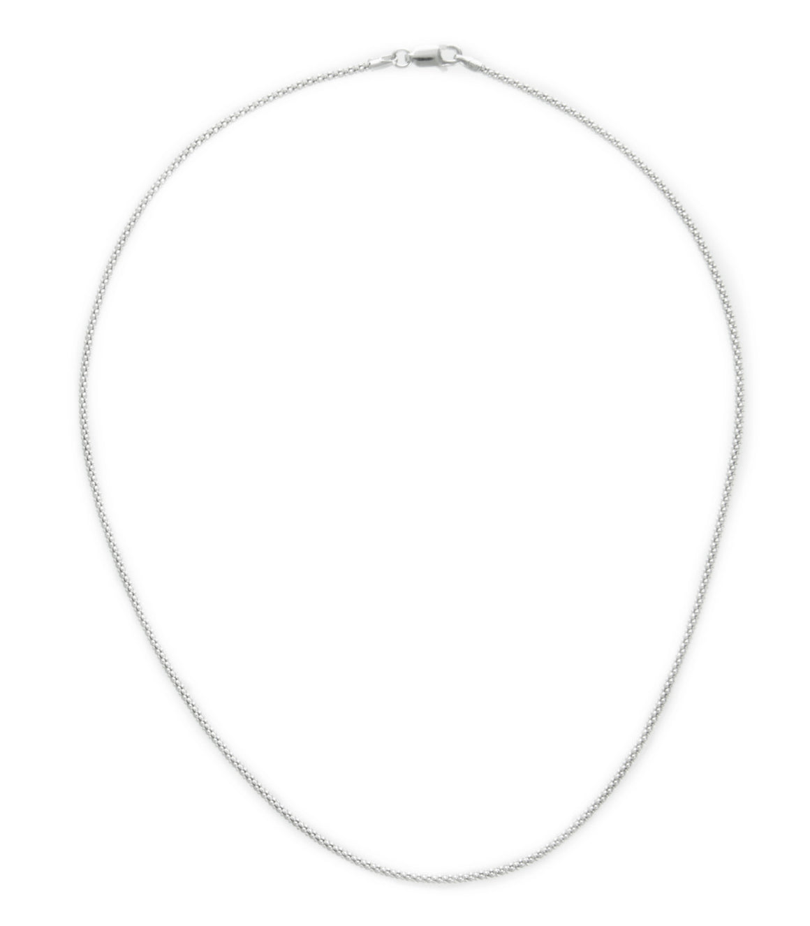 Sterling Silver 16 Inch Popcorn Chain Necklace