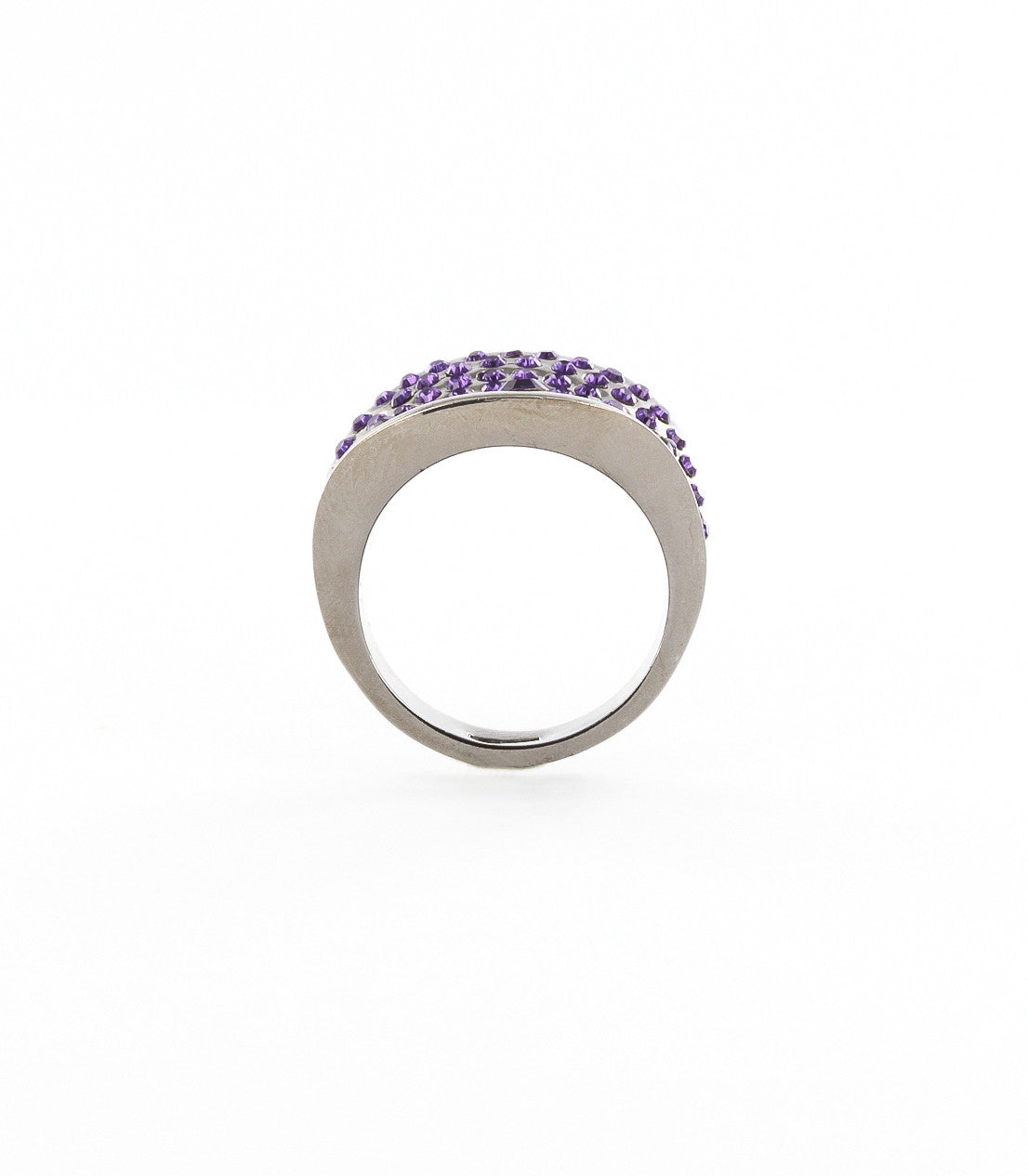 Kite shaped structural ring with pave rhinestones.