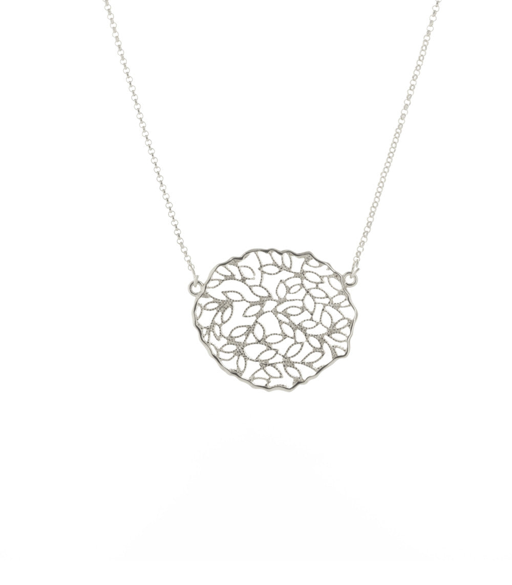 Climbing Vines Filigree Medallion Pendant Necklace